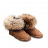 Женские угги Mini Fur Fox Chestnut.