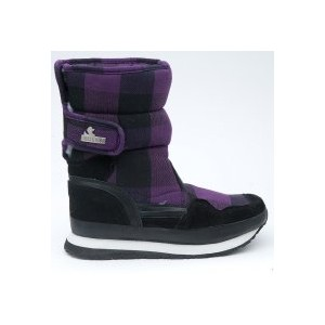Snow joggers sporty Black Purple