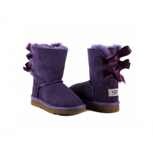 Kids Toddlers Bailey Bow - Violet.