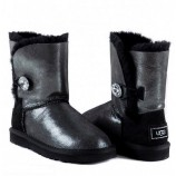 Ugg Kids Bailey Button Bling Metallic - Black.