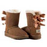 UGG KIDS BAILEY BOW CHESTNUT.