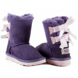 UGG KIDS BAILEY BOW PURPLE PINK.