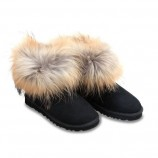UGG Fox Fur Mini Black,