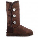 UGG Bailey Button Triplet Glitter Chocolate,