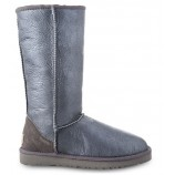 UGG TALL METALLIC GREY.